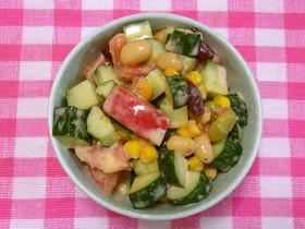 育毛レシピ ビタミン&タンパク質チャージ☆豆サラダ